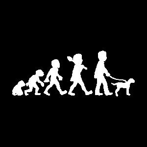 evolution hiking with dog maenner t shirt