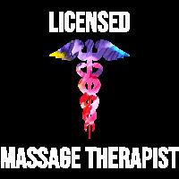 Cooles lizenziertes Massage-Therapeut-Caduceus-T-Shirt