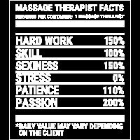 Lustiges Massage-Therapeut-Tatsachen-Therapie-Geschenk-T-Shirt