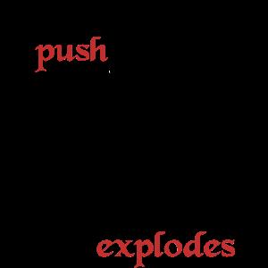 Orc schubsen Explosion lustig Tabletop DnD