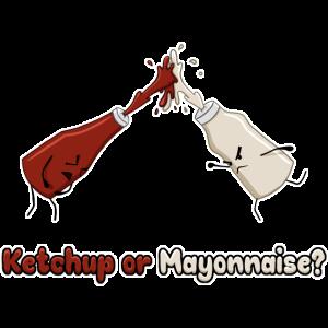 Ketchup Mayonnaise Essen Gewürz Imbiss Geschenk