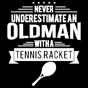old man tennis maenner t shirt