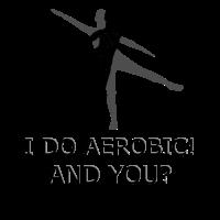 Sport Aerobic Silhouette Spruch Geschenk