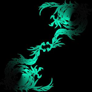 Tribal Tattoo Dragon mit Yin Yang Symbol türkis