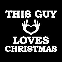 this guy loves christmas t shirts maenner premium