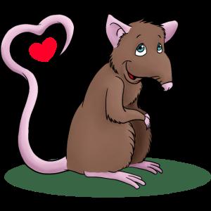 Ratte mit Herz