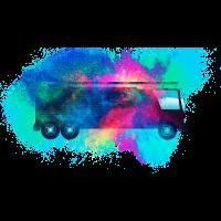 Feuerwehrauto Feuerwehrmänner farbenfroh