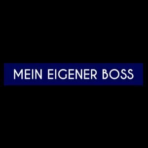Mein eigener Boss Blau Box Motiv