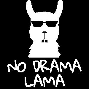 No Drama Lama Party Einhorn lustiges fun Shirt