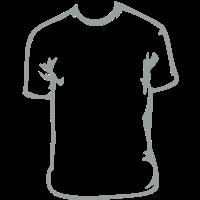 Ein T-Shirt. Auf einem T-Shirt.