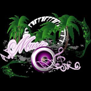 Musik-Lautsprecher mit Palmen