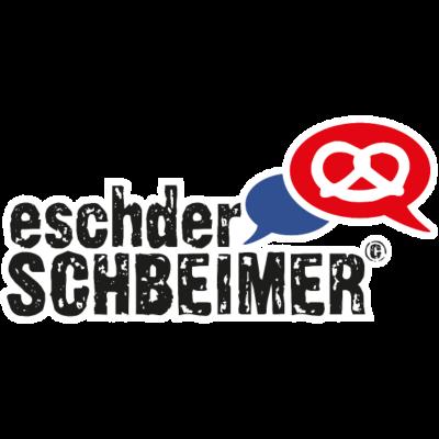 Eschder Schbeimer - Echter Speyerer OUTLINE - Zeige, dass Du ein echter Speyerer bist. Das Motiv wurde mit Anregungen der Facebook Gruppe Du bist Speyerer, wenn... entwickelt. Original Speyerer Dialekt! - Speyer,Logo,Facebook,Brezel