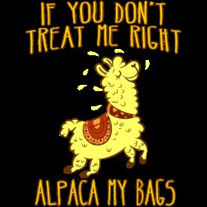 Alpaka Tierliebhaber lustiger Spruch Beziehung süß