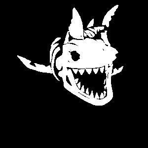 Vintage Megalodon Hai Skelett