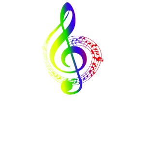 Bunter Notenschlüssel Musik Noten Musiker