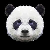 Panda geometrisch - Pandakopf
