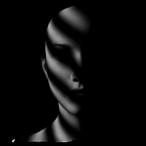 Gesicht Weiblich im Schatten Dunkelheit Shirt