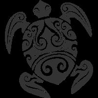 Maori Tattoo Schildkroete schwarz