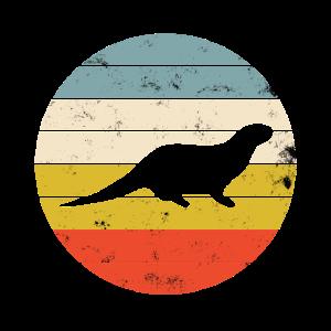 Fischotter Seeotter Marder Otter Vintage Retro