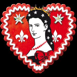 62 Lebkuchenherz schöne Kaiserin Elisabeth Porträt