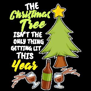Weihnachtsbaum Weihnachten Brennen Alkohol Wein