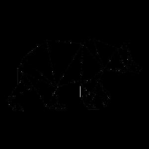 Herbstmotiv Bär geometrisch