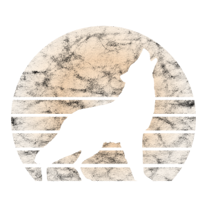 Wolf Wölfe Vollmond Heulend Hunde Retro Geschenk