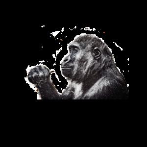 Affe gezeichnet