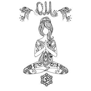 Hippiegirl Yoga Design Motiv Boho Style