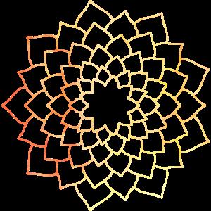 Mandala gelb-orange