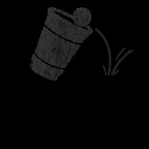Beer Pong Cup Vintage Black
