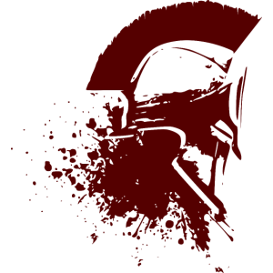 Spartan Helm side with blood
