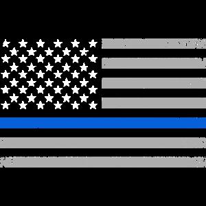 USA Flag Thin Blue Line Polizei Polizist Geschenk