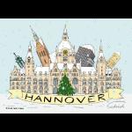 Hannover Rathaus Sehenswürdigkeiten Souvenir Winter