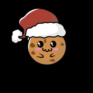 Weihnachten Keks mit Mütze