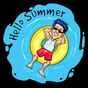 Hello Summer Black Geschenkidee