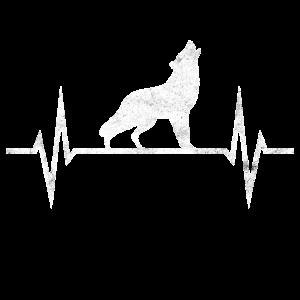 Wolf Wölfe Wolfsrudel Heulend Hunde EKG Geschenk