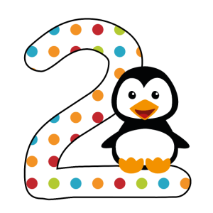 Pinguin zum 2. Geburtstag