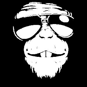 Affe Sonnenbrille
