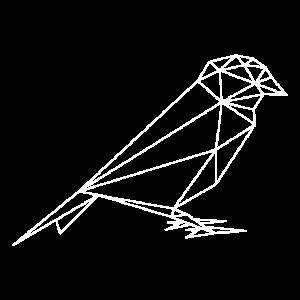 Hipster Vogel Formen geometrisch