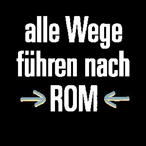Alle Wege fuehren nach ROM / Illustration Grunge