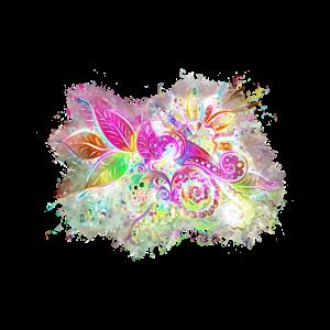 Blumen dekorativ hell glühend
