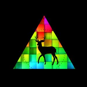 Hirsch Vektor mit bunten Pixel
