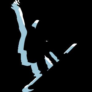 Snowboarder snowboarding freeride wintersport