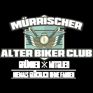Mürrischer Biker Club Biker Motorrad Alter Mann