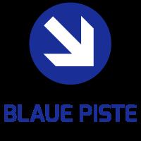 Blaue Ski-Piste GESCHAFFT!