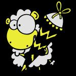Schaf mit Zuckertüte