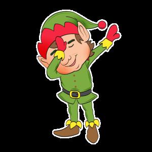 Dabbing Elf Tanz lustiges Geschenk Weihnachten