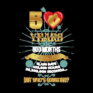 50 Jahre verheiratet Goldene Hochzeit Jubiläum