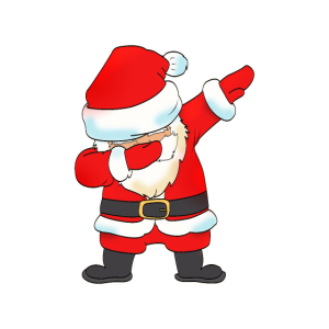 Dabbing Weihnachtsmann Tanz lustig Geschenk Santa
